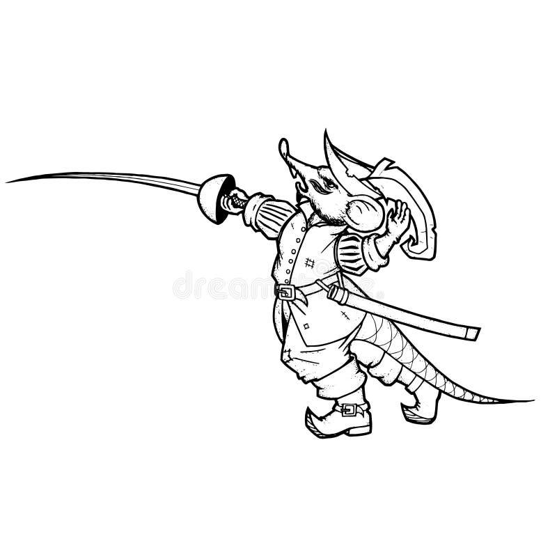 Ratón del espadachín foto de archivo