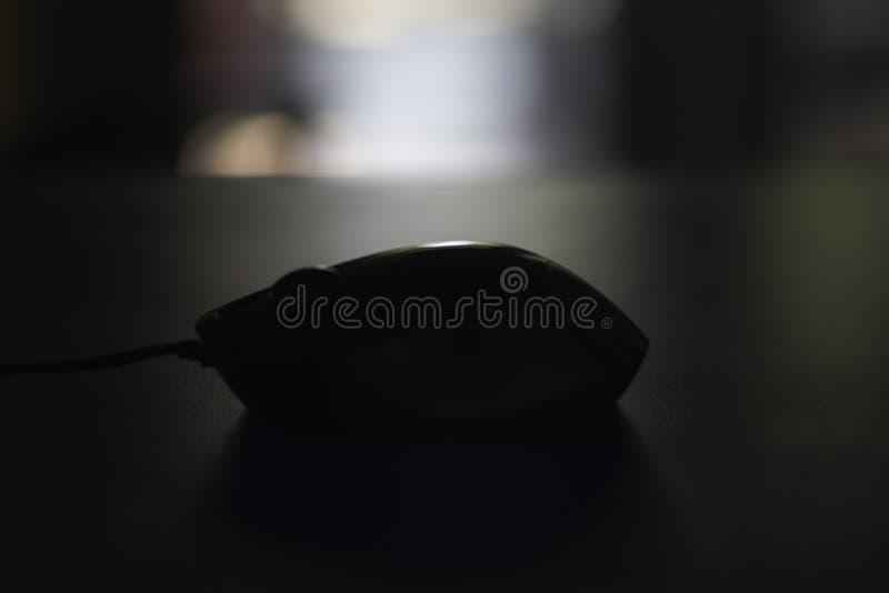 Ratón del ordenador en sombra fotografía de archivo