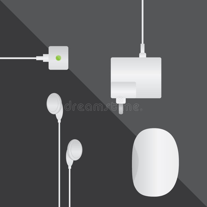 Ratón del usb del adaptador de los auriculares imagenes de archivo