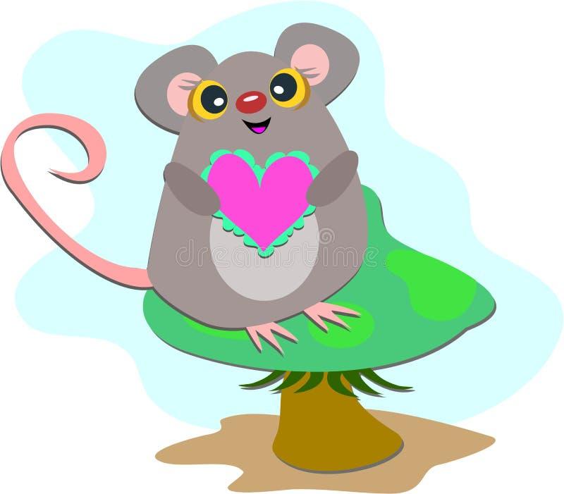 Ratón En Una Seta Imagen de archivo libre de regalías