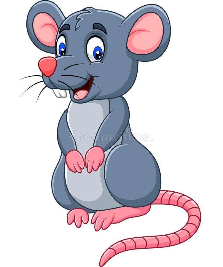 Ratón feliz de la historieta libre illustration