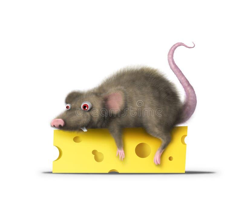 Ratón gordo stock de ilustración
