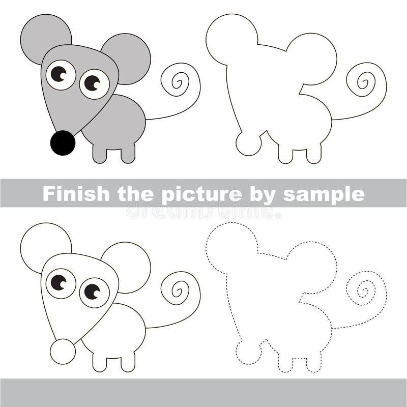 ratón Hoja de trabajo del dibujo ilustración del vector