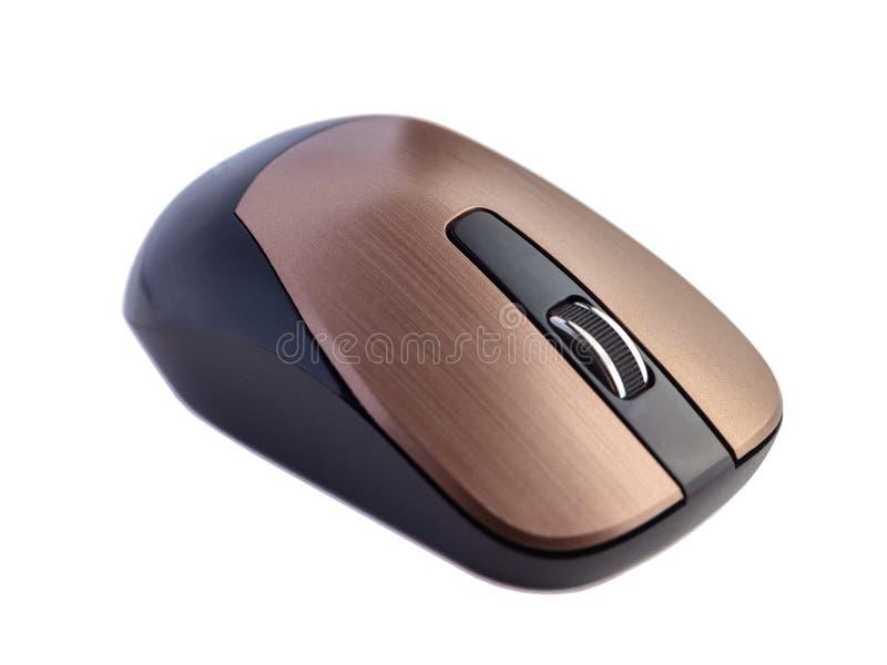 Ratón inalámbrico del ordenador aislado en el fondo blanco imagen de archivo