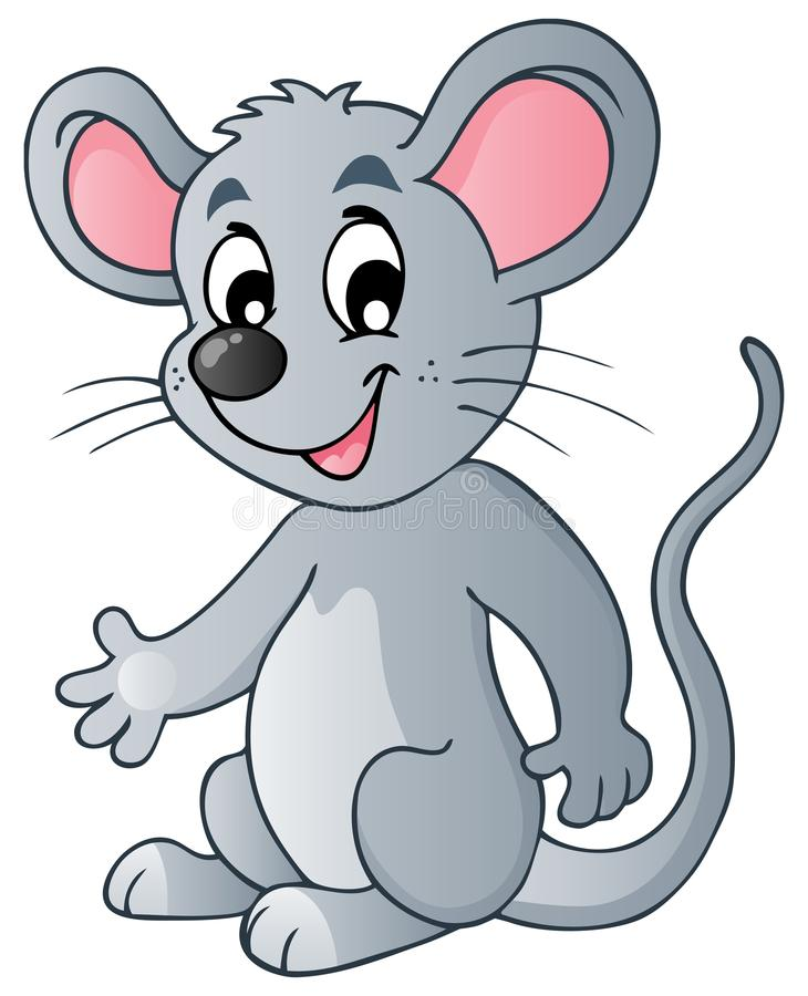 Ratón lindo de la historieta ilustración del vector