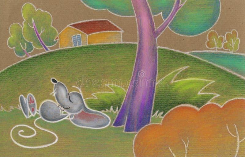 Ratón lindo dormido libre illustration