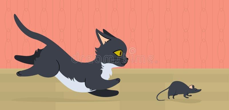 Ratón que corre de gato libre illustration