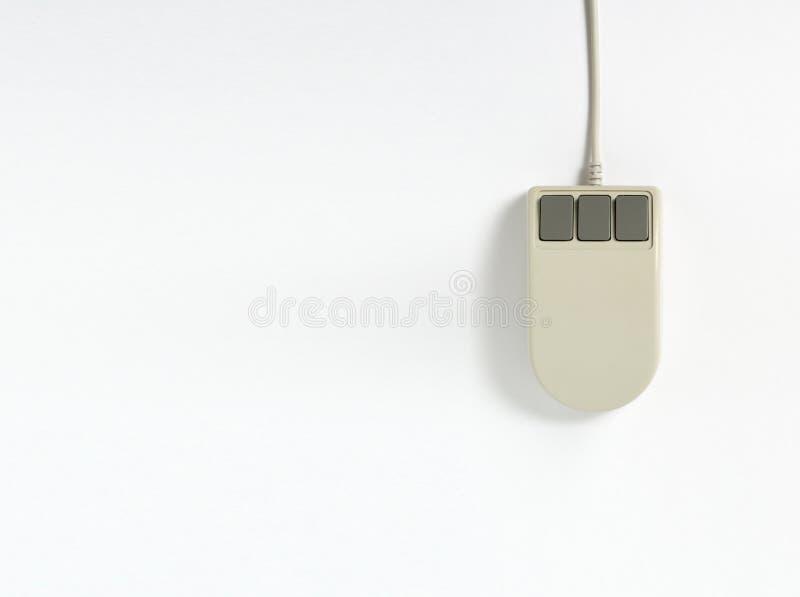 Ratón viejo del ordenador foto de archivo