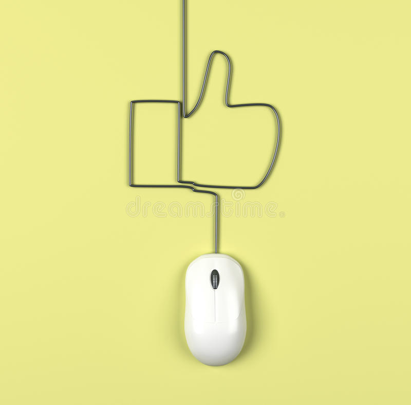 Ratón y como stock de ilustración