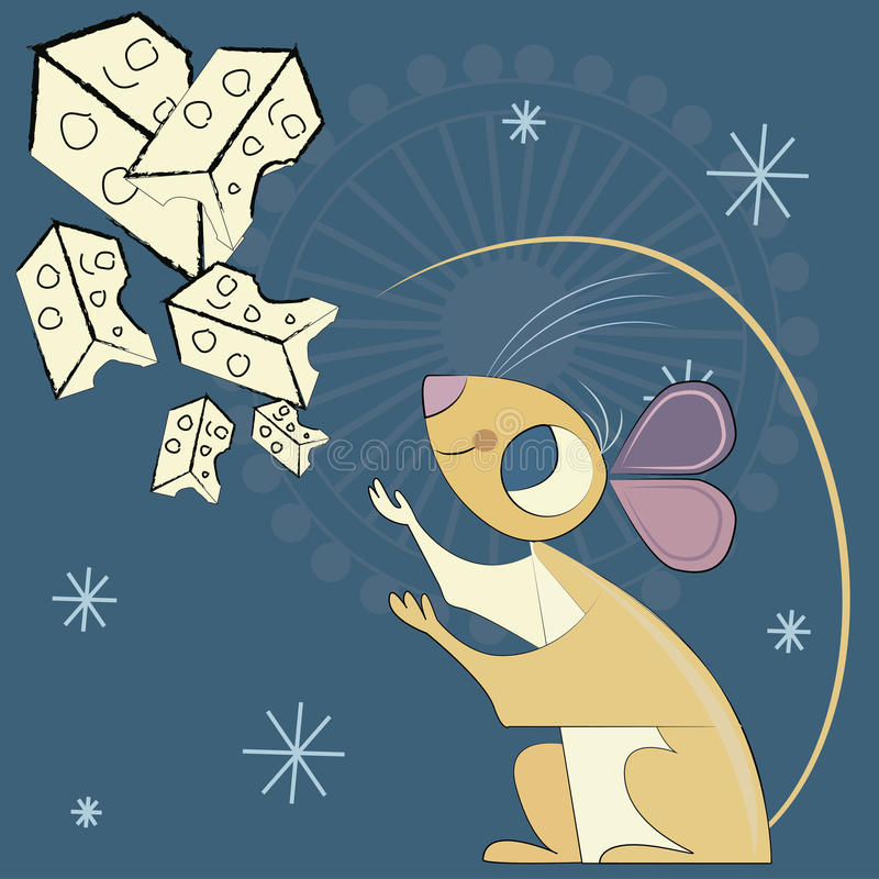 Ratón y el universo del queso libre illustration