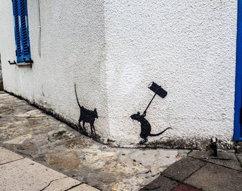 Ratón y gato imagenes de archivo