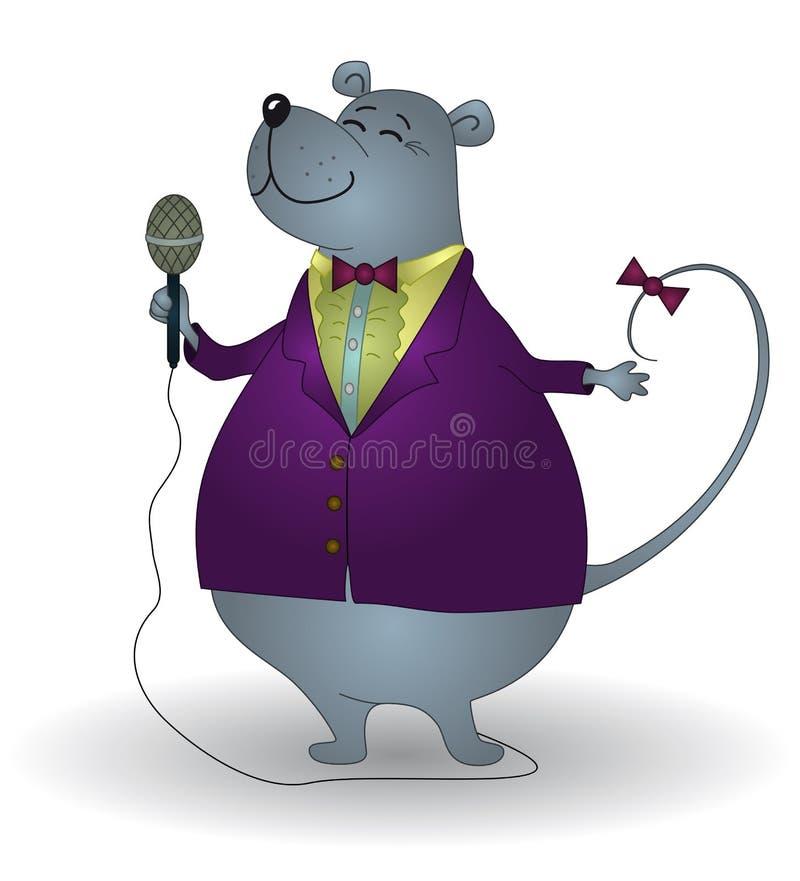 Rat-chanteur illustration libre de droits