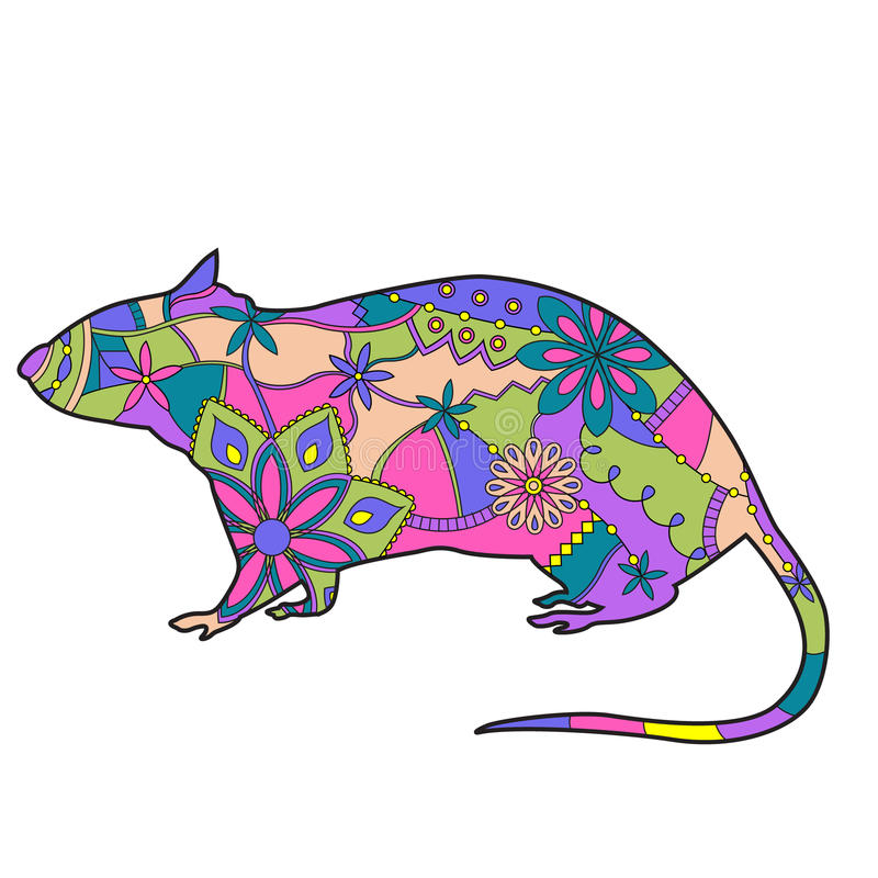 Download Rat colorful stock vector. Image of vector, yellow, blue - 43229736
