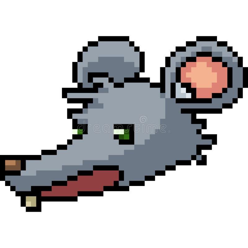 Rat d'art de pixel de vecteur illustration stock