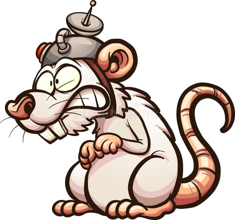 Rat de laboratoire illustration libre de droits