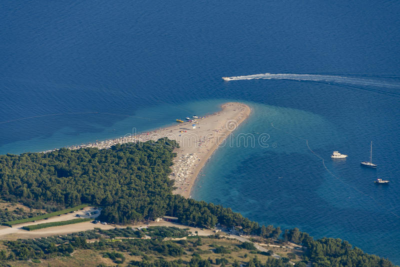 Rat de Zlatni, Bol, île de Brac, Croatie, Dalmatie images libres de droits