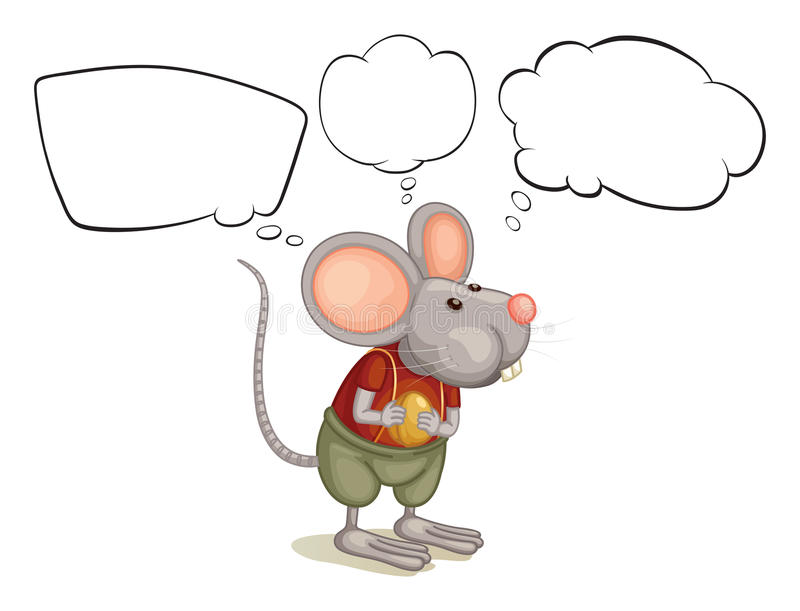 A rat with empty callouts royalty free illustration
