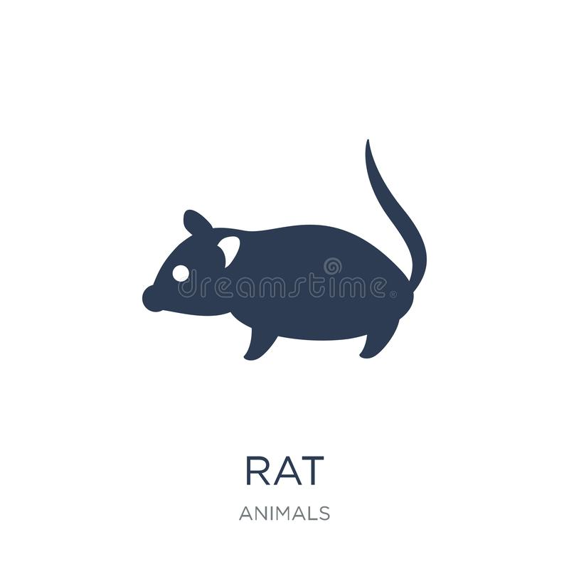 Rat icon. Trendy flat vector Rat icon on white background from a. Nimals collection, vector illustration can be use for web and mobile, eps10 stock illustration