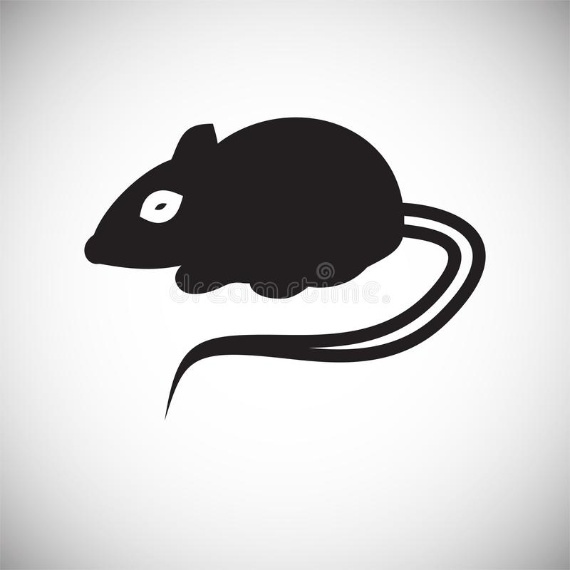 Rat icon on white background for graphic and web design, Modern simple vector sign. Internet concept. Trendy symbol for website vector illustration