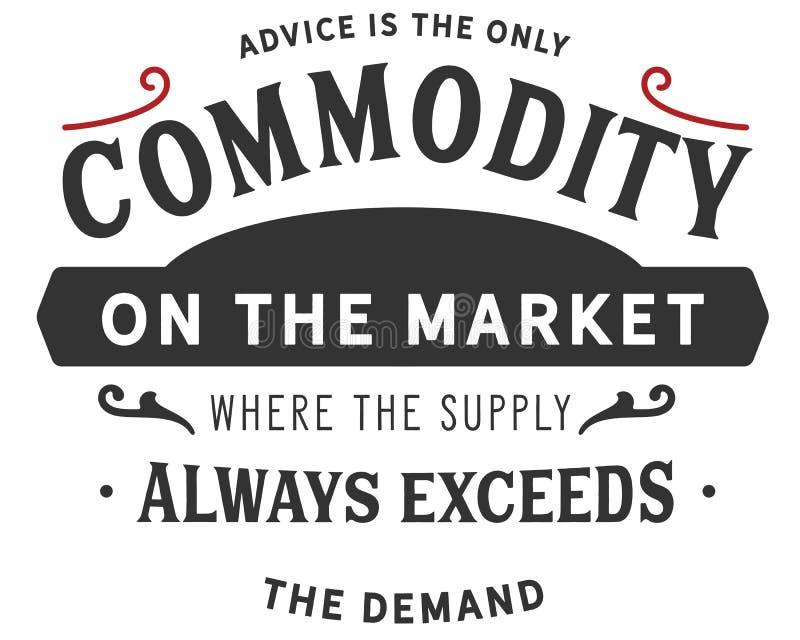 Rat ist die einzige Ware auf dem Markt, in dem die Versorgung immer die Nachfrage übersteigt lizenzfreie abbildung