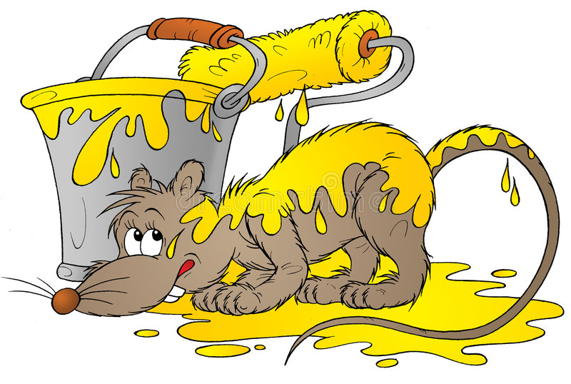 Rat jaune illustration libre de droits
