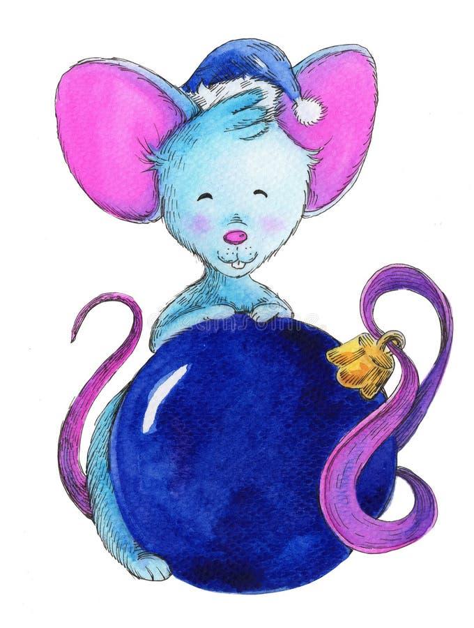 Rat?n de la Navidad, s?mbolo del a?o stock de ilustración