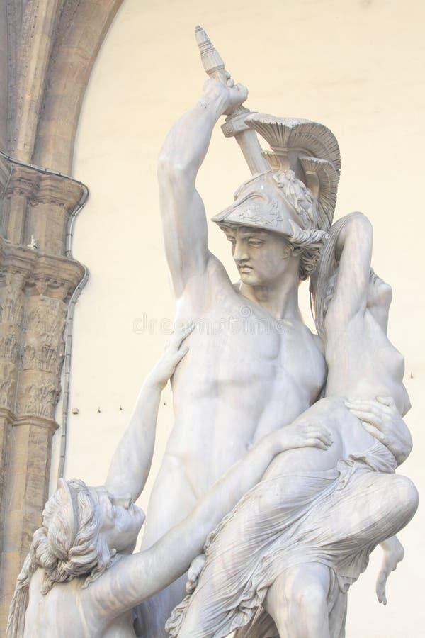 Rat Polissena statue in Florence stock photos