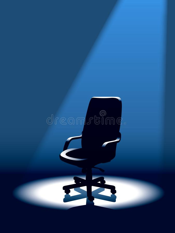 Empty chair royalty free illustration