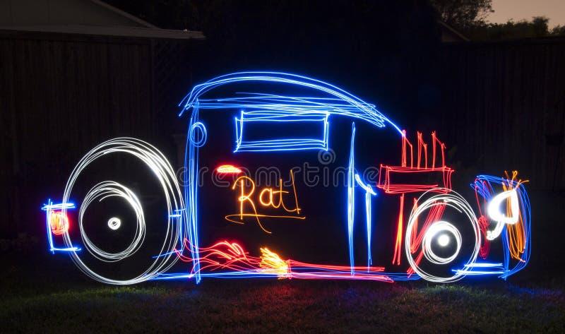 Rat Rod Light Painting Image stock fotografie