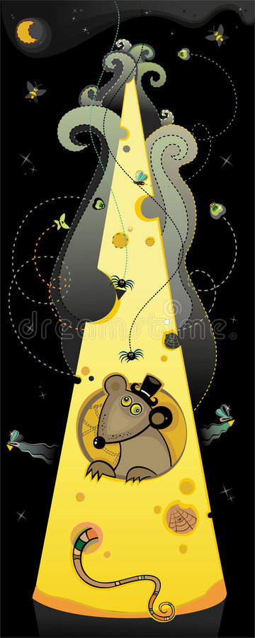Download Rat in a smelly cheese stock illustration. Illustration of respirator - 5188169