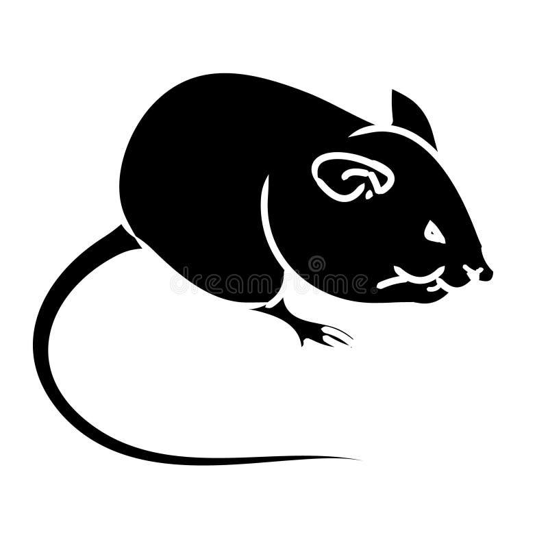 Rat souris silhouette noire illustration de vecteur - Dessin d un rat ...