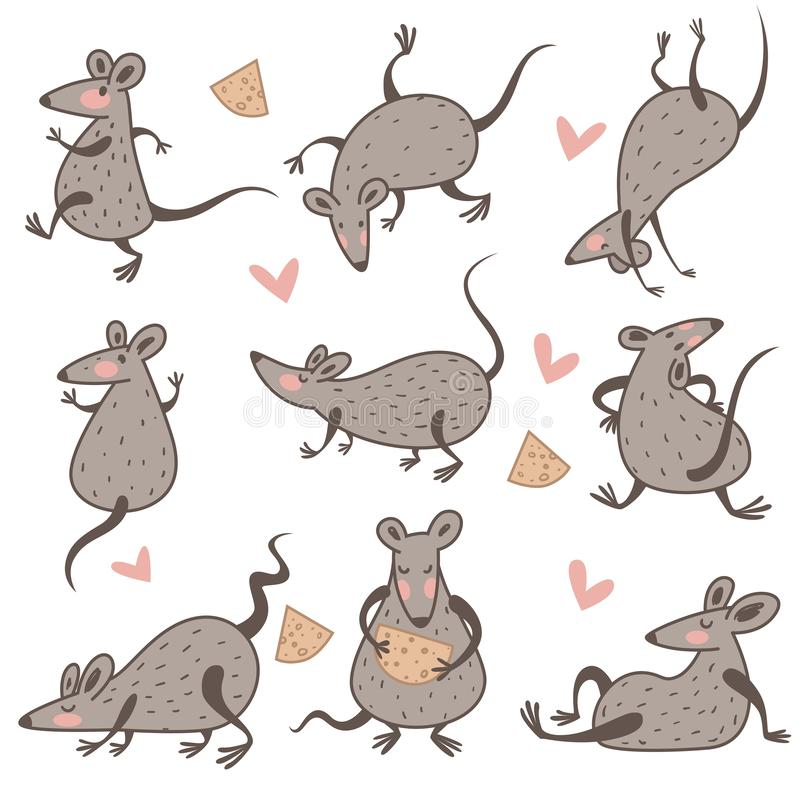 Free Rat With Cheese, Chinese New Year Symbol, Isolated Characters Royalty Free Stock Photos - 161951268