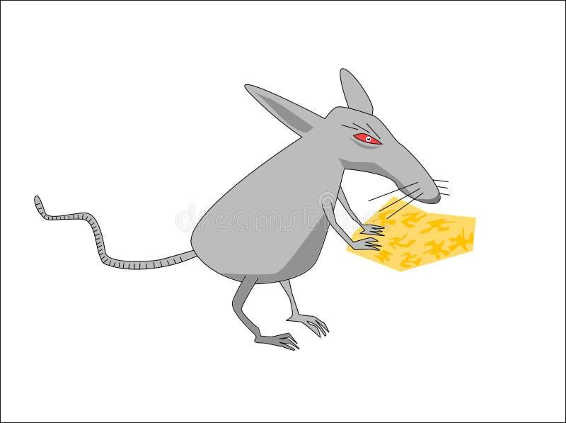 Rata con queso fotos de archivo
