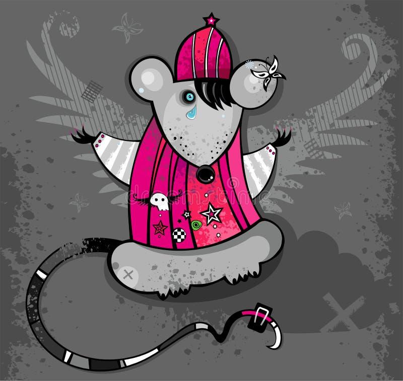 Rata de Emo stock de ilustración
