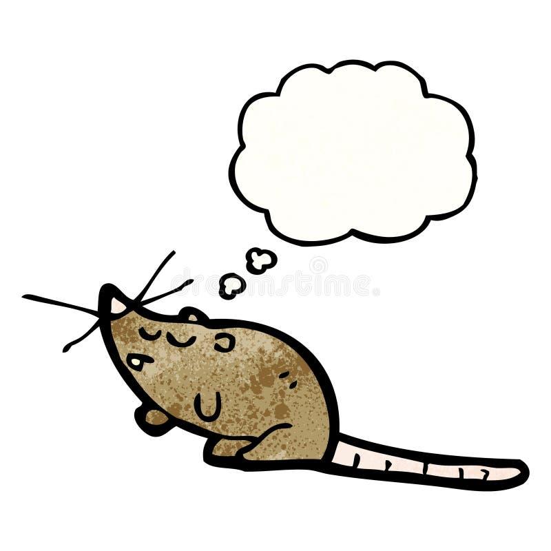 rata de la historieta con la burbuja del pensamiento ilustración del vector