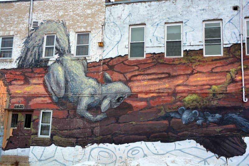 Rata divertida del arte de la calle foto de archivo libre de regalías