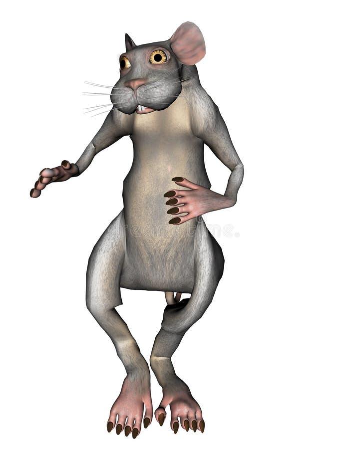 rata gris 3D stock de ilustración