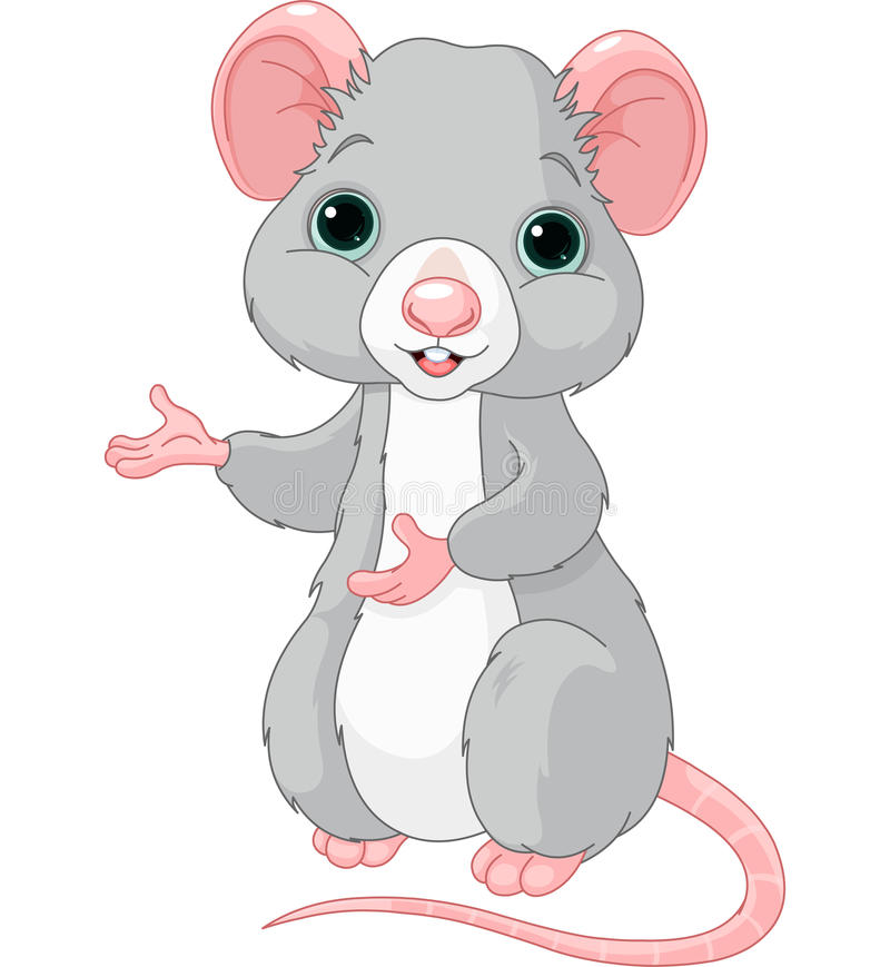 Rata linda de la historieta ilustración del vector