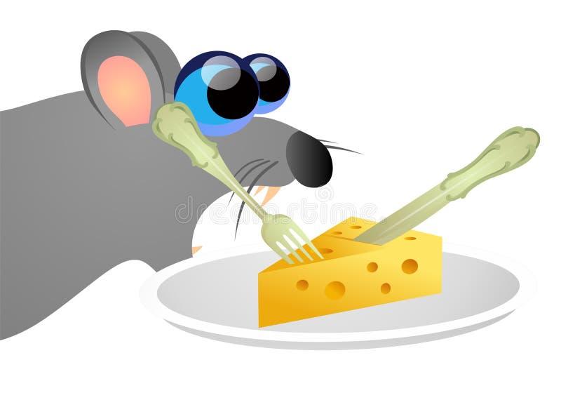 Rata que roba el queso ilustración del vector
