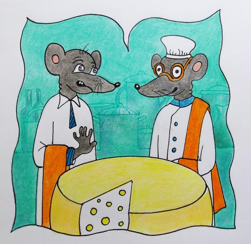 Ratas y queso fotos de archivo libres de regalías