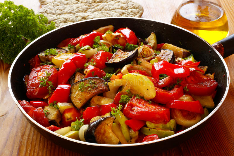 Ratatouille. Traditional French (especially Provencal)vegetable dish royalty free stock photo