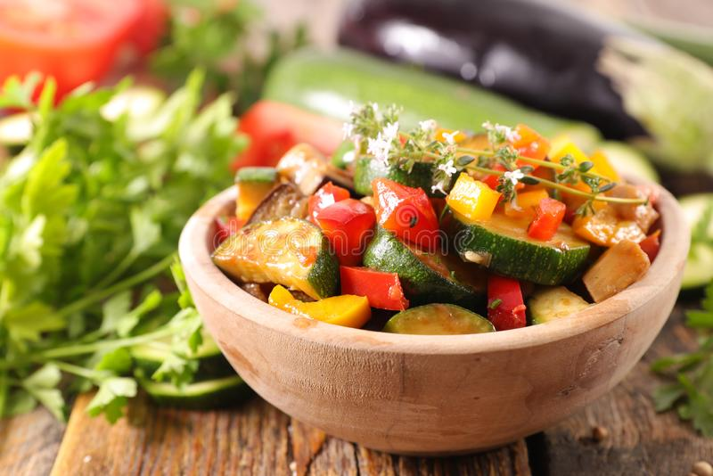 Ratatouille in bowl. Close up on ratatouille in bowl royalty free stock images