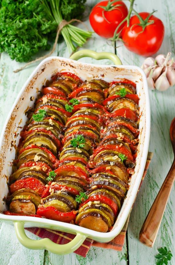 Ratatouille - de traditionele Franse plantaardige gekookte schotel van Provencal royalty-vrije stock fotografie