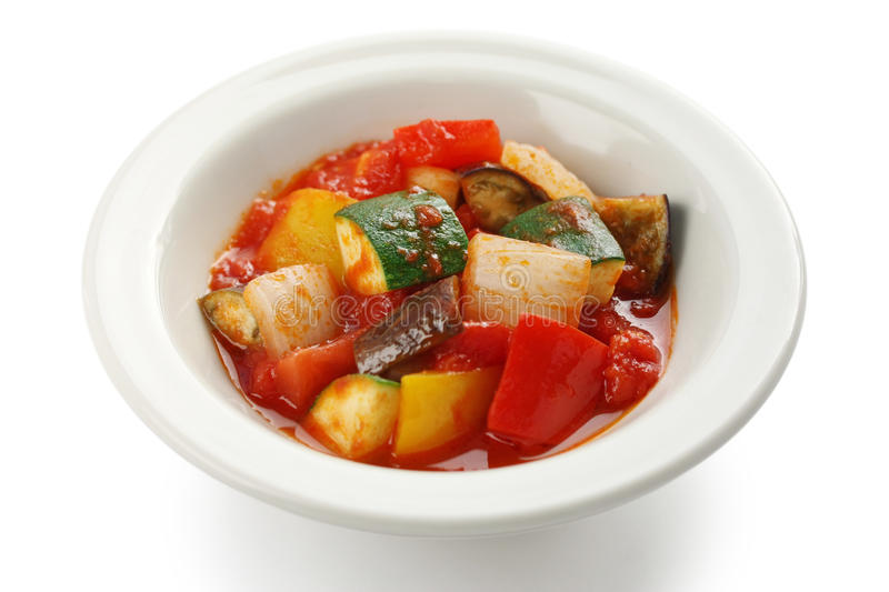 Ratatouille , french vegetable stew. Dish stock image