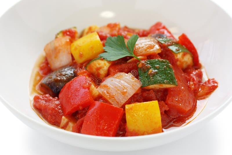 Ratatouille , french vegetable stew. Dish royalty free stock photo