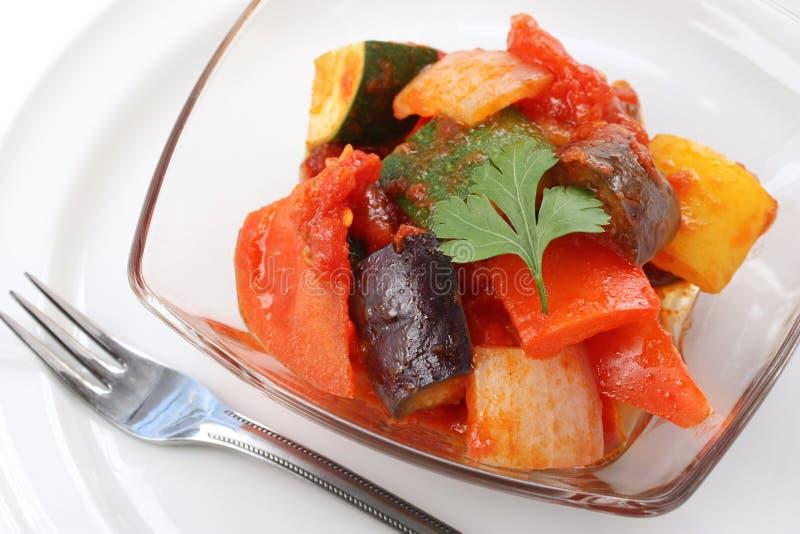 Ratatouille, guisado vegetal francês foto de stock royalty free