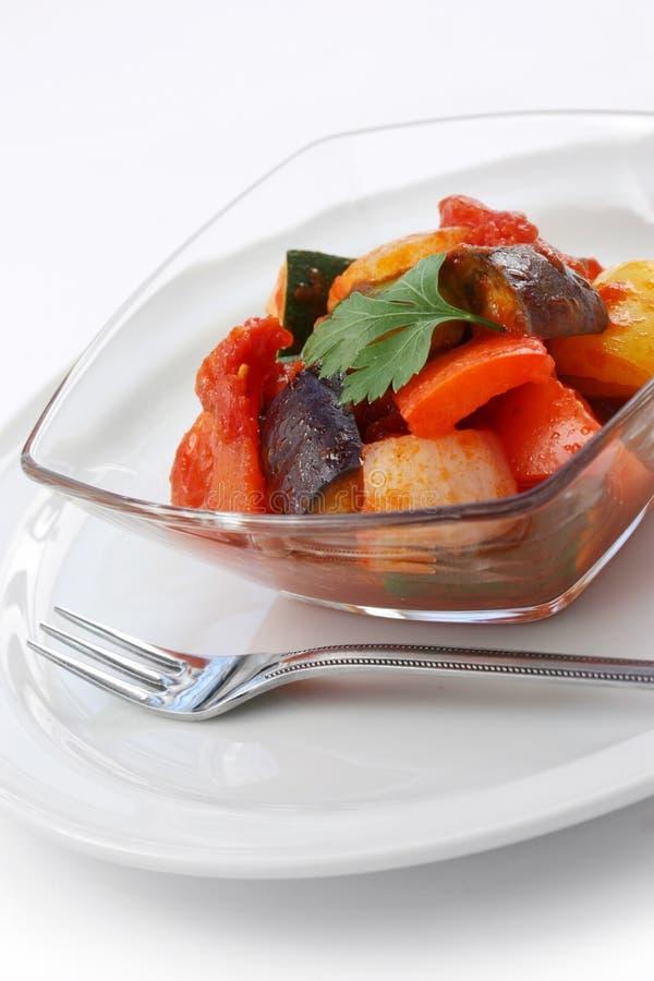 Ratatouille, guisado vegetal francês imagens de stock royalty free
