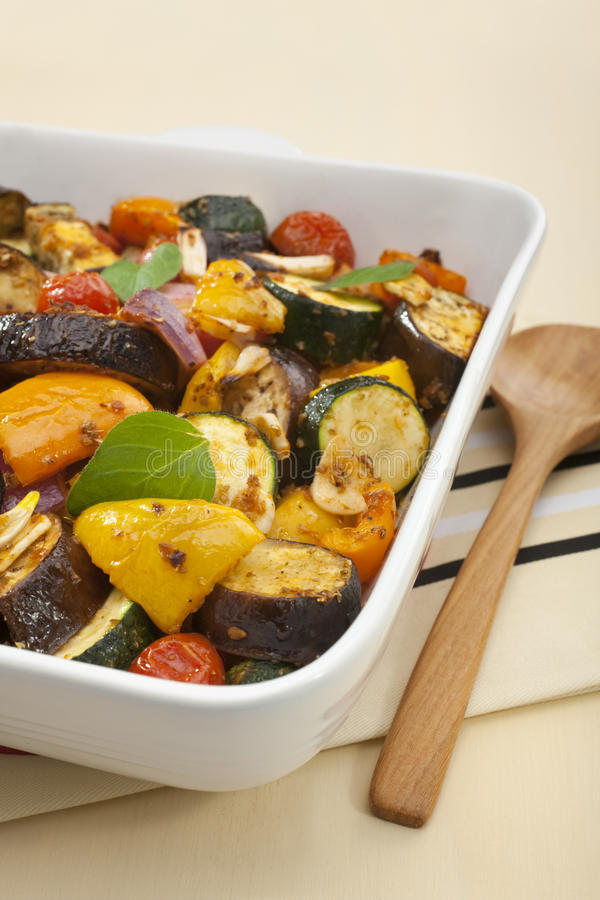 Ratatouille Oven Baked Roast. Ratatouille baked in the oven royalty free stock photos