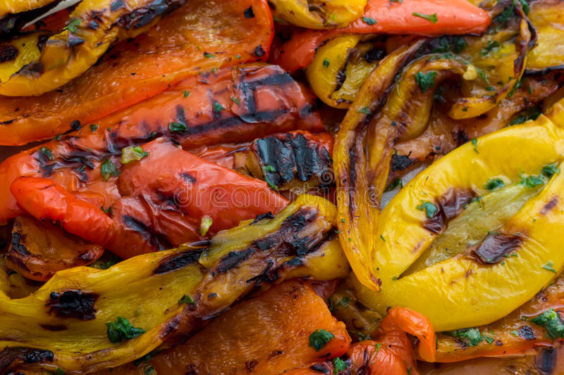 Ratatouille. Tasty Ratatouille grilled with red and yello peppers stock images