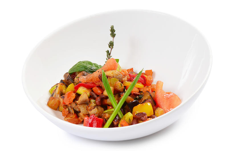 Ratatouille from vegetables. Close up stock image
